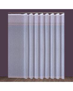 Firana markizeta z ołowianką 000126 wysokość 330 cm kolor biały