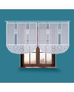 ZURIEL/000/001/120120/1 Panel biały żakardowy konfekcjonowany ZURIEL 120x120cm